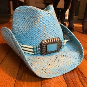 NWOT Peter Grimm Turquoise Cowboy Hat